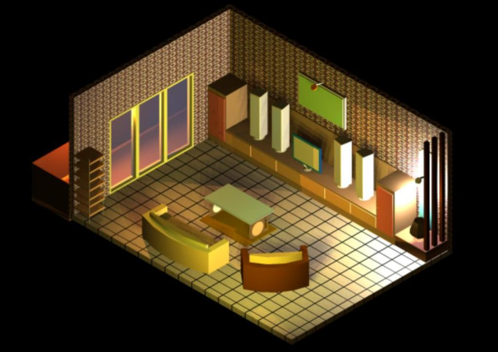 Assignment 3 autocad 3d living room create what do you - What do you need in a living room ...